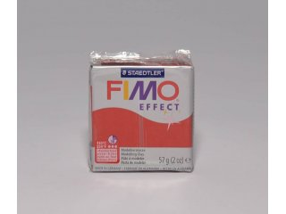 Fimo effect 202 glitter red 56g