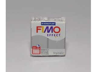 Fimo effect 81 metallic silver 56g