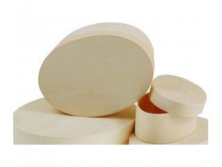 Drvena kutija ovalna 12x9x5cm