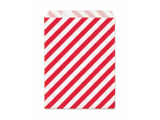 Papirnate vrećice crvene pruge 25/1   13X16,5cm