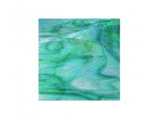 Spectrum opalescent 30x30cm aquamarine lime green
