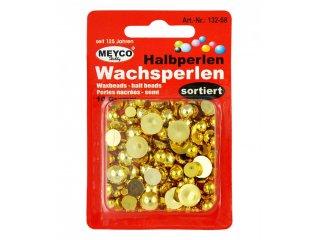 Perle voštane 10g zlatne