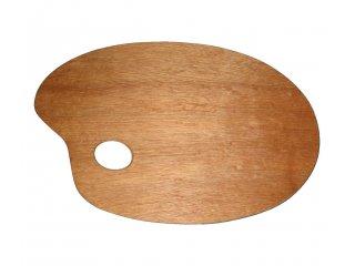 Paleta drvena ovalna 20x30cm