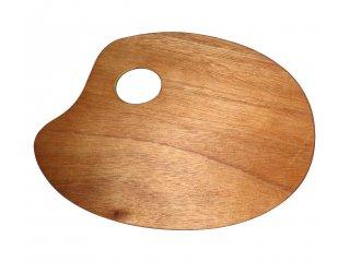 Paleta drvena ovalna 18x24cm
