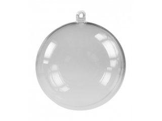 Plastična kugla 90mm prozirna