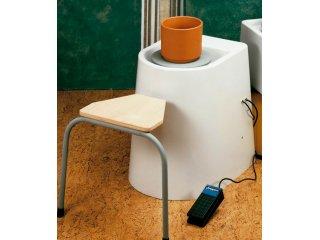Električno lončarsko kolo sa stolcem