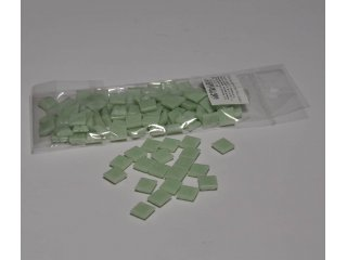 Stakleni mozaik 10x10mm 80g pastel green
