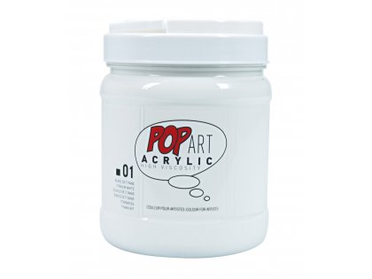 Pop art akril 700ml Titanium white